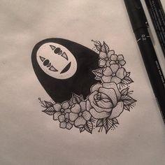No Face Tattoo by Medusa Lou Tattoo Artist - medusaloux@outlook.com