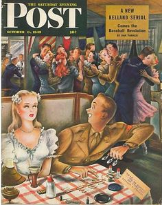 The Saturday Evening Post May 7 1949 Cover by Aljalov Vintage Americana
