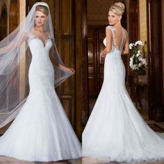 2016 New White/Ivory Lace Wedding Dress Bridal Gown Custom Size 6/8/10/12/14/16