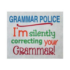 Grammar Police - 5 Sizes! Nobbie Neez Kids