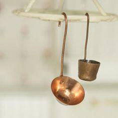 Miniature Copper Ladle - Kitchen Miniatures - Dollhouse Miniatures - Doll Making Supplies - Craft Supplies