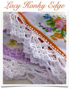 lacy hanky edge