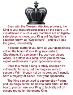 King strategy in chess