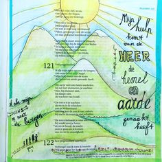 Biblejournaling  Psalm 121 Bijbeljournaling