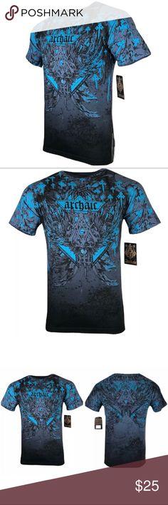 AFFLICTION Womens T-Shirt LIFELESS Athletic Wings Biker Gym MMA $40 43O2