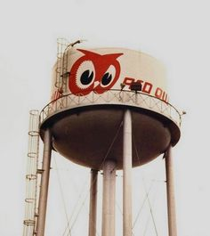 Red Owl water tower at corporate headquarters in Hopkins, Minnesota