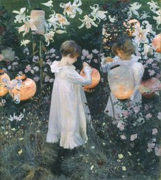 John Singer Sargent 'Carnation, Lily, Lily, Rose', 1885–6