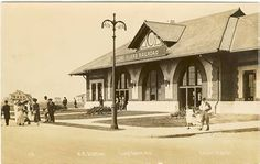 Long Beach LIRR Train Station in 1932 - Long Beach, NY