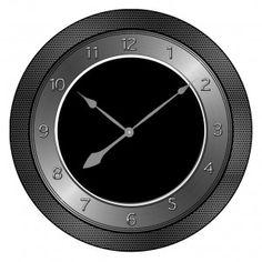Smedbo Time Contemporary Clock in Black wwwukbathroomscom
