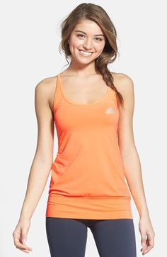adidas Boyfriend Keyhole Racerback Layer Tank available at #Nordstrom