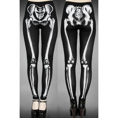 Skeleton Black Leggings by Restyle (€26) ❤ liked on Polyvore featuring pants, leggings, stretch pants, stretchy pants, skeleton leggings, black leggings and x ray leggings