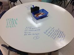Can't get enough of this photo from @Kathy Cassidy! Parents left notes for their kids at school on IDP tables!