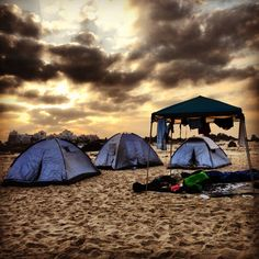 Camping !!!    Some where to get away from all the noise and troubles of the world.