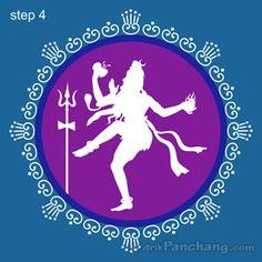 Lord Shiva Rangoli Step 4