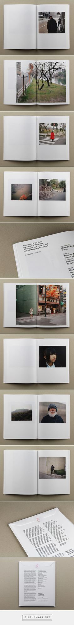 #layout #photobook #book Wide Island by Alexander Ziegler