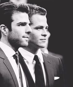 Spock & Kirk (Zachary Quinto & Chris Pine)