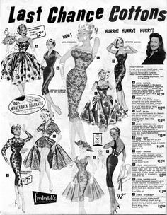 598 best bizarre vintage ads 3 images vintage ads vintage 1950 Chevy Car 1950s outfits from frederick s of hollywood 50sfashion 1950s 50sdresses 50s dresses vintage