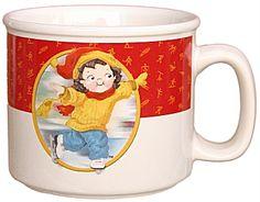 """Campbell's Soup Kid (boy) """"Skater"""" U.S. Olympic Soup Mug"""
