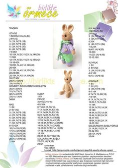 Crochet Doll Amigurumi Bunny with Tiny Teddy Bear Crochet Bear Patterns, Crochet Bunny Pattern, Crochet Rabbit, Amigurumi Patterns, Doll Patterns, Cat Amigurumi, Crochet Gratis, Crochet Dolls, Free Crochet