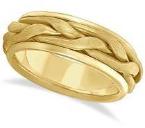 #Allurez                  #Gold Wedding Bands       #Men's #Handwoven #Braided #Wide #Band #Wedding #Ring #Yellow #Gold #(8.5mm)  Men's Handwoven Braided Wide Band Wedding Ring 14k Yellow Gold (8.5mm)                                  http://www.snaproduct.com/product.aspx?PID=5760649