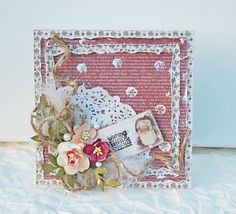 """Marilyn Rivera -Wishing....card- """"It's Christmas Time collection"""" by Maja Design."""