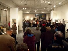 """Kansas City Mayor Sly James officiating AJM Changing Gallery Opening - """"Ella, First Lady of Song"""" exhibit."""