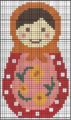 Free Babushka cross stitch pattern by alissa