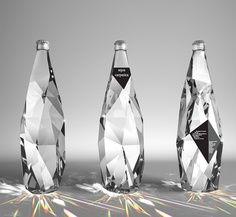 Light refracting glass bottles for water!