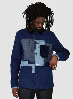 Couverture and The Garbstore - Mens - Indigo Farm - Patchwork Jacket