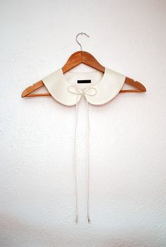 Jolie Môme Pearl Faux Leather Peter Pan Bow Tie Collar by YeYe, $28.00