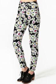 Neon Daisy Skinny Jeans