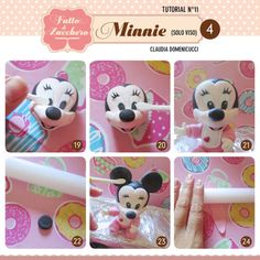 How to make Minnie Baby (only face) - CakesDecor