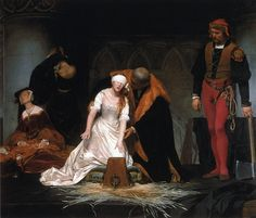 Paul Delaroche - The Execution of Lady Jane Grey [1834]~ Saw this at London's National Gallery. Very powerful painting.