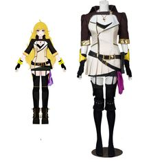 Department Name:Adult;Gender:Women Material:Uniform Included:All pieces like pictures Character:RWBY Yang Xiao Long Size:Any size, all items in ou Halloween Carnival, Halloween Party, Halloween Costumes, Rwby Cosplay, Cosplay Costumes, Rwby Season 2, Rwby Yang, Carnival Outfits, Amazing Cosplay