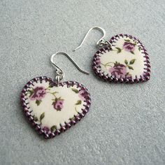 Fabric earrings by The Crimson Moon