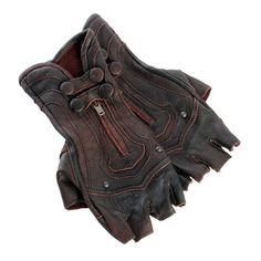Steam Trunk Archery Leather Gloves!! (≧∇≦)