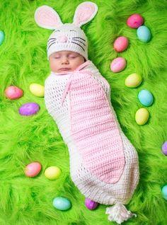 Baby Crochet Cocoon Bunny Costume -