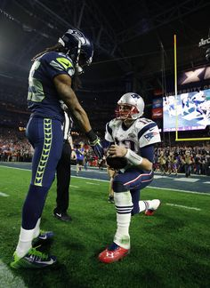 Richard Sherman, Tom Brady combine for the defining photo of Super Bowl XLIX   Shutdown Corner - Yahoo Sports