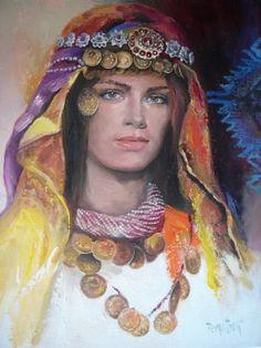 Remzi Iren -.Turkish Painter Anatolia headband..Isparta başlığı