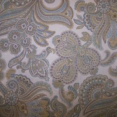 Floral Fabric - Decorating Fabrics -M9197 Citrus Embossed Floral Upholstery Fabric by Barrow