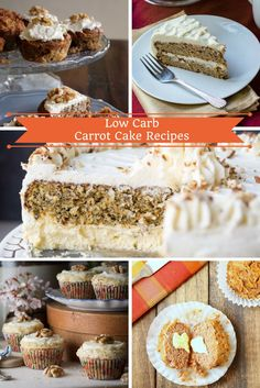 Low Carb Carrot Cake Recipes