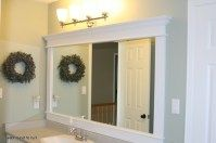 How To Frame A Bathroom Mirror With Crown Molding 02