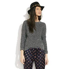 mm peppery. alexa chung for madewell cassie crewneck sweater, $118