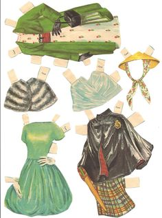 VINTAGE 1959 Teen Time - outfits, via Etsy.