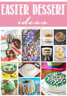 Easter dessert ideas! Easter cakes, cupcakes, and more!
