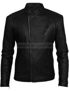 Iron Man Tony Stark Black Leather Jacket