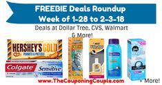 Be sure to grab your FREEBIES this week! FREEBIE Deals Roundup ~ Week of 1-28 to 2-3-18!  Click the link below to get all of the details ► http://www.thecouponingcouple.com/freebie-deals-roundup-1-28-thru-2-3-18/ #Coupons #Couponing #CouponCommunity  Visit us at http://www.thecouponingcouple.com for more great posts!