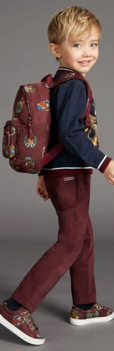 ON SALE !!! DOLCE & GABBANA Boys Blue Crest Sweatshirt. Looks so Cute with a Pair of Dark Red Jeans, Royal Prince Crest Backpack & Matching Shoes. Love this Iconic Italian D&G Sweatshirt with a Sicilian crest. Adorable Mini Me Look Inspired by the D&G Men's Collection from Milan Fashion Week for Fall Winter 2017-18 #kidsfashion #boy #dolcegabbana #DG #minime #fashion #style #prince #luxury #sale