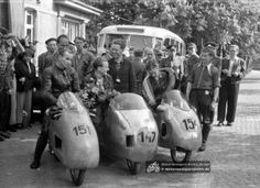 Die IFA-Mannschaft 1956: #151 Willi Richter, #147 Siegfried Halm, #154 Werner Weidauer