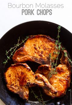 Bourbon Molasses Pork Chops